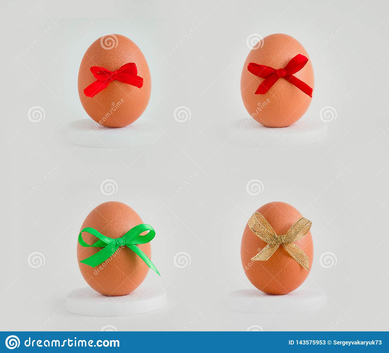 Egg with a decor on a white background.