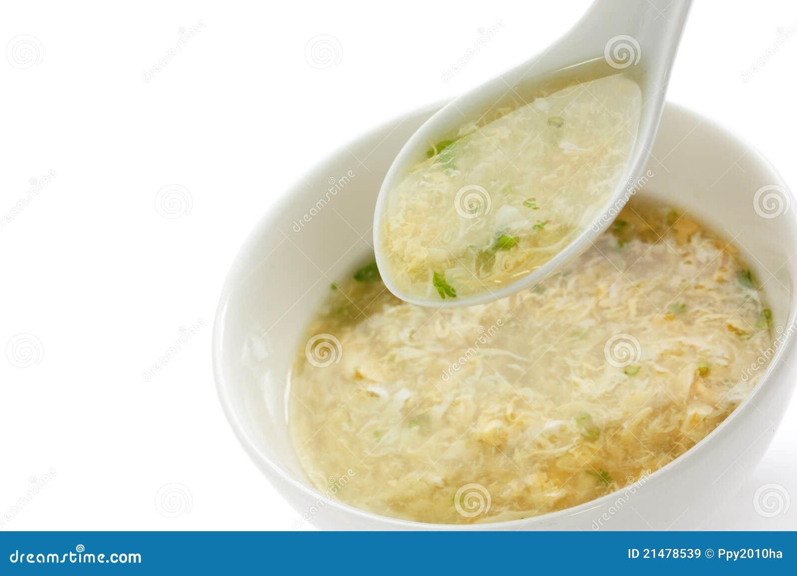 Egg drop soup , egg flower soup