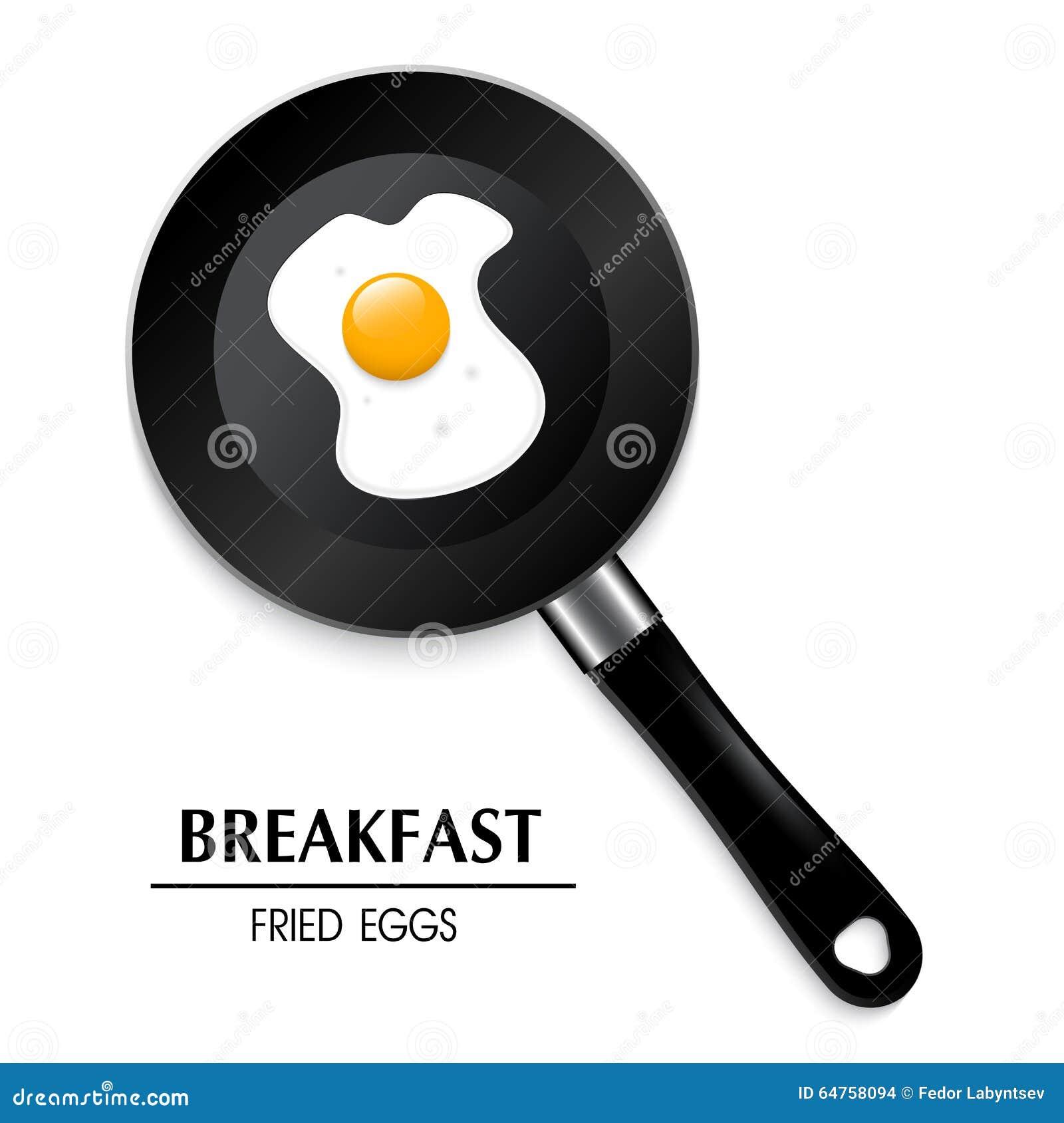 Egg in a frying pan a breakfast 3D fried eggs