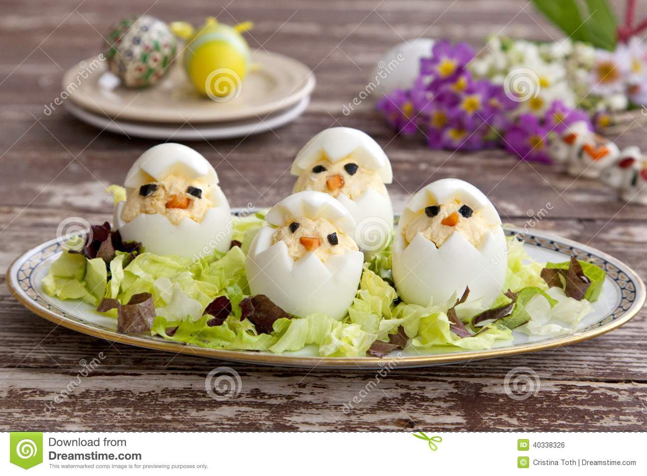 Egg Fun Appetizers For Kids Stock Photo Image 40338326