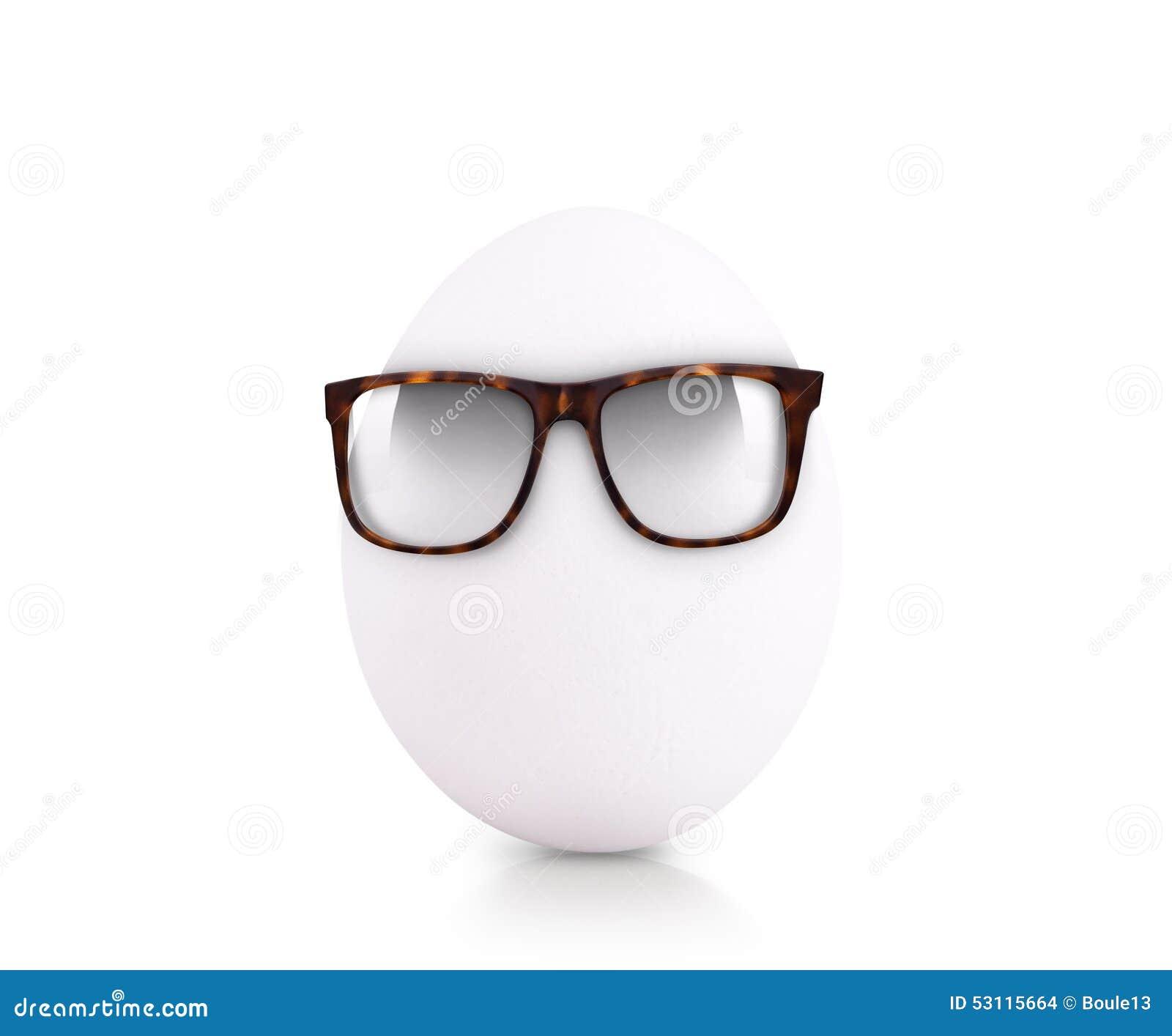 Egg Wearing Glasses