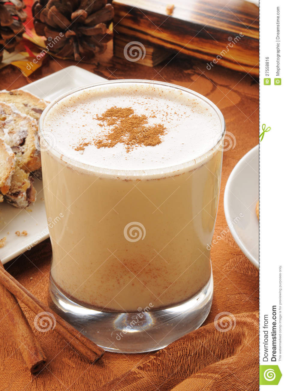 Egg Nog With Cinnamon And Nutmet Royalty Free Stock Image ...