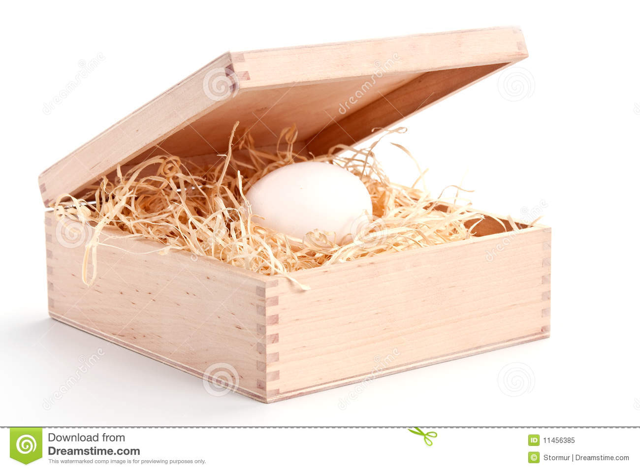 Egg In Thebox Royalty Free Stock Photo Image 11456385