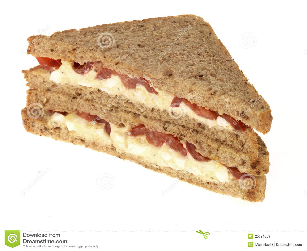 Egg And Tomato Sandwich Royalty Free Stock Photos - Image: 25591658