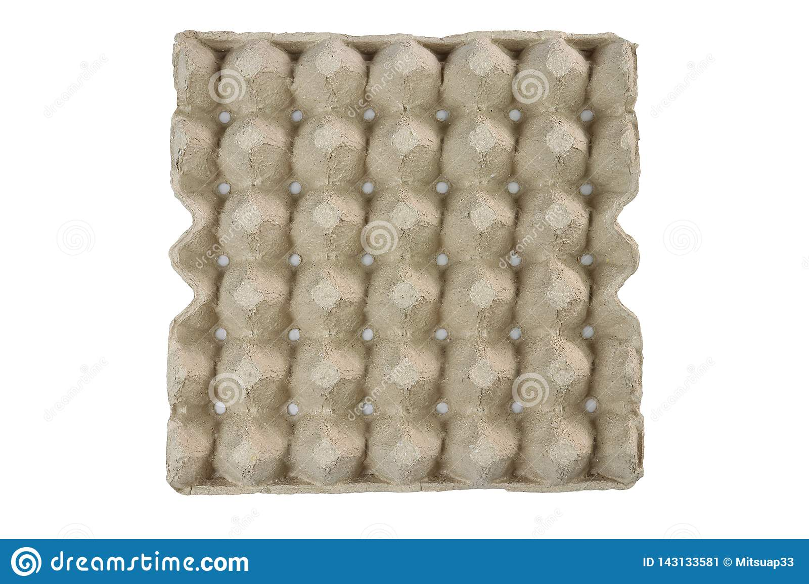 Egg tray, Stack cardboard packaging for eggs isolated on black background