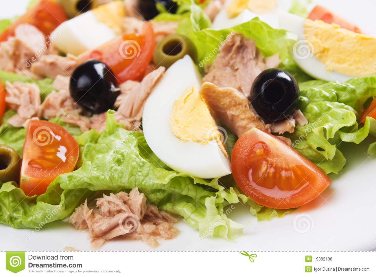 Egg and tuna salad stock photo image of cherry black for Tuna fish salad recipe with egg