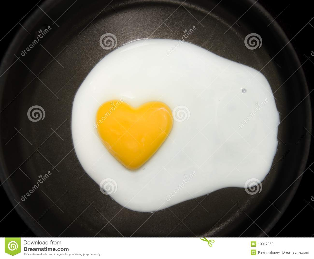 Egg Yolk Heart Shape Stock Photo Image Of Background