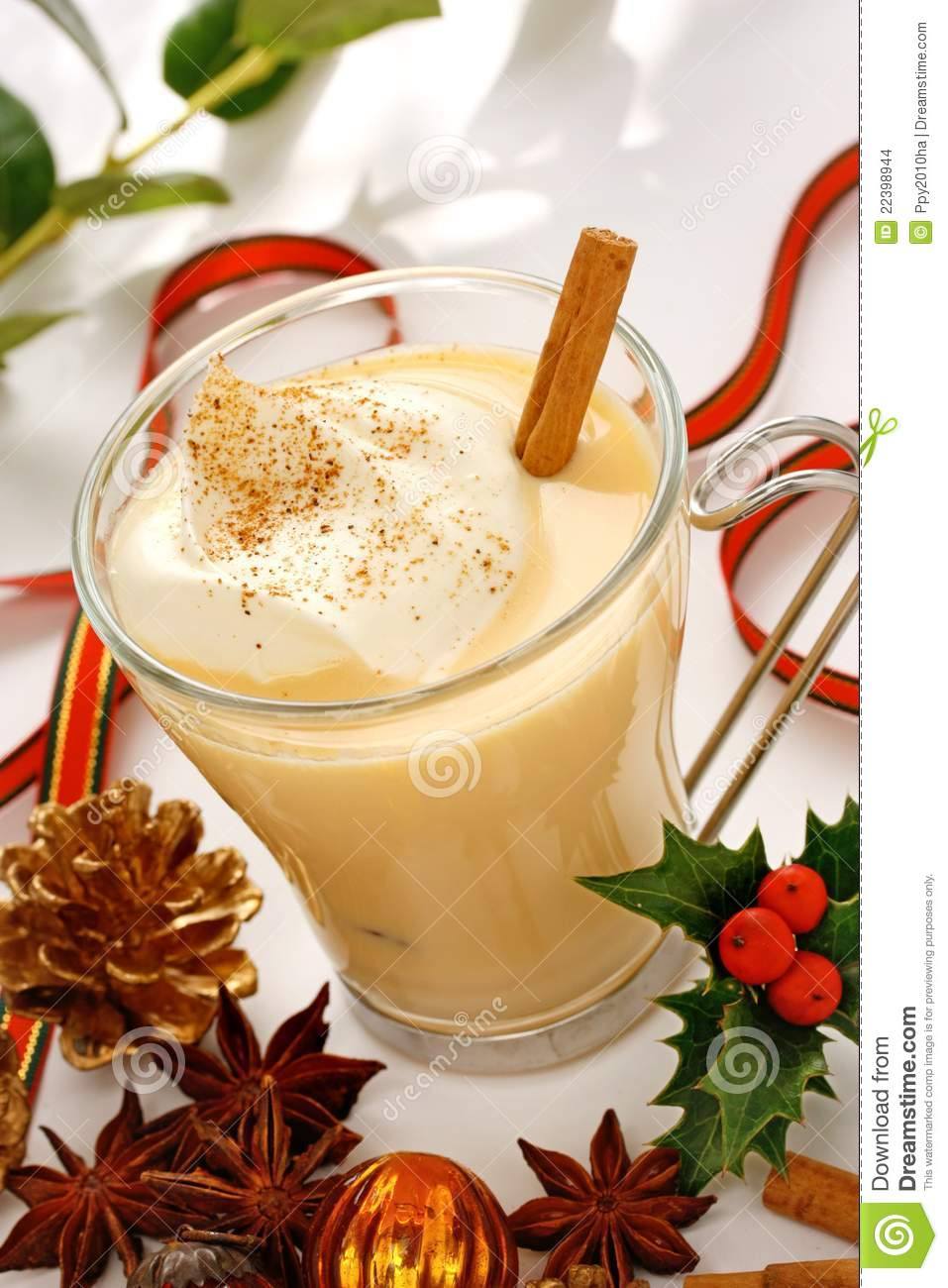 Eggnog At Christmas Time Stock Images - Image: 22398944