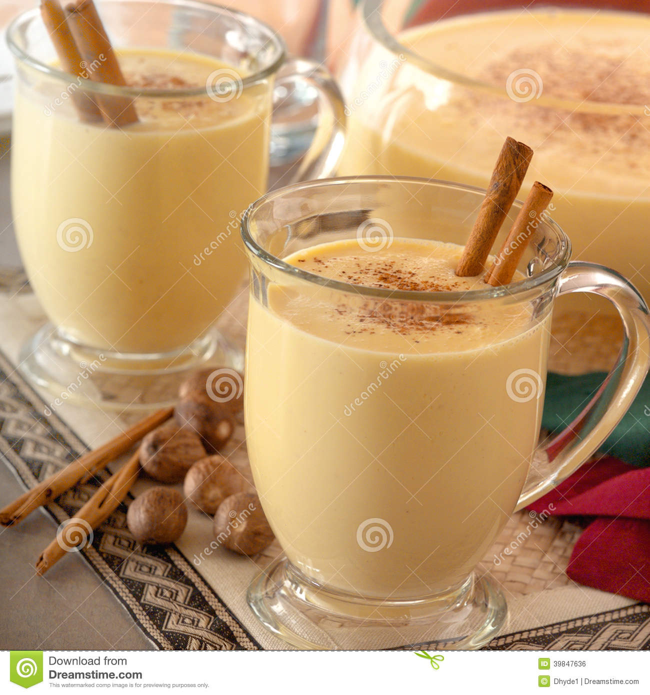 Eggnog With Nutmeg And Cinnamon Recipe — Dishmaps