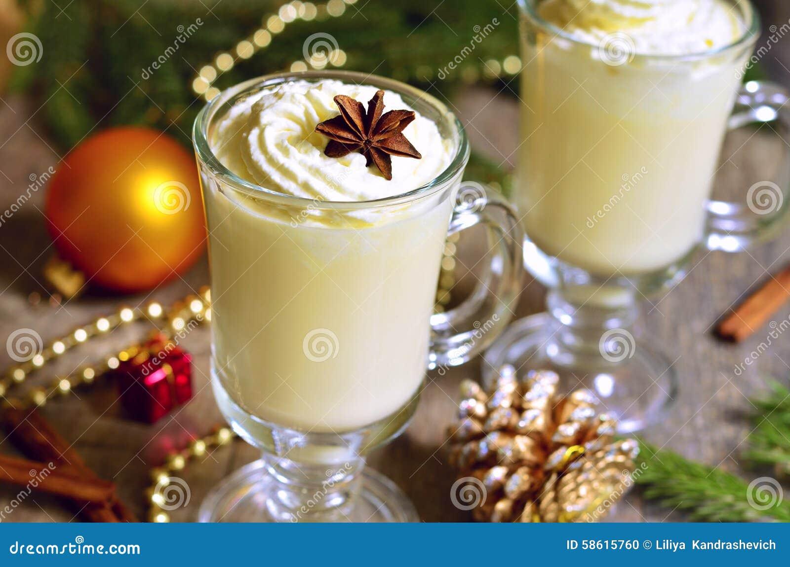 Eggnog - Hot Christmas Drink. Stock Photo - Image: 58615760