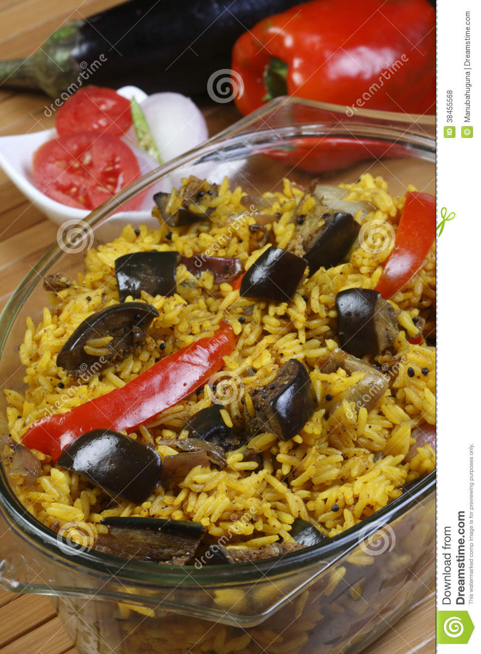 Eggplant biryani an indian food made of rice and for Aubergine cuisine
