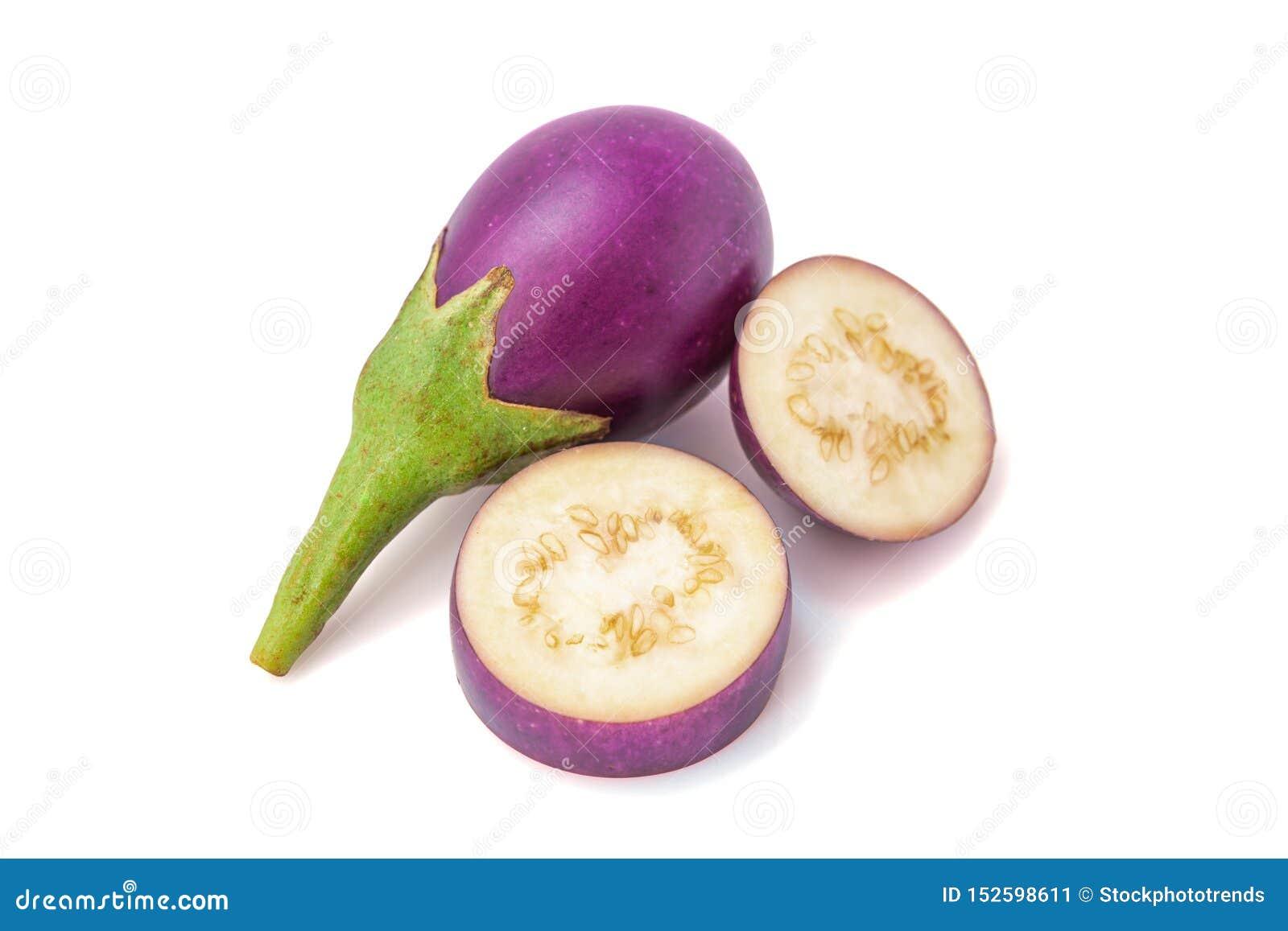 Eggplant Fresco ilumine - a beringela roxa isolada