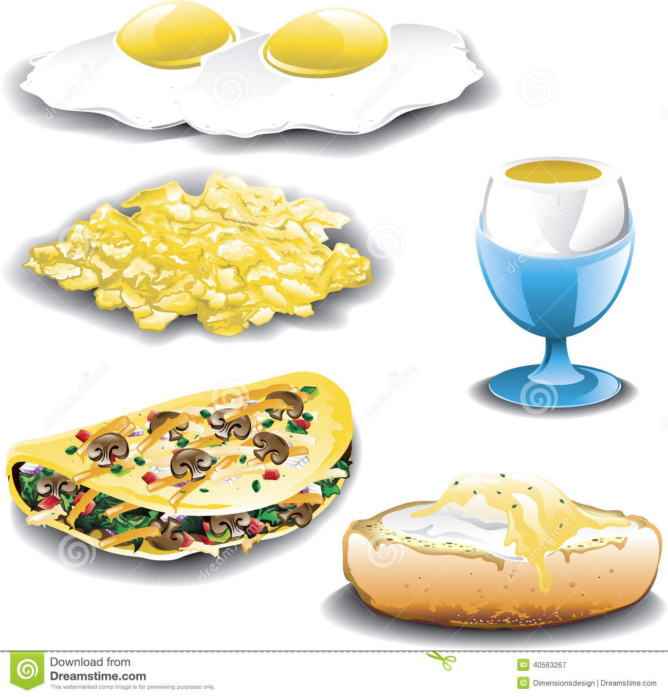 Eggs Assorted Stock Vector - Image: 40563267