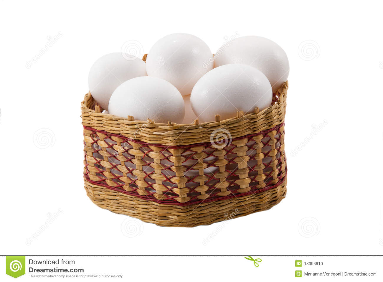 Eggs in a basket stock photo. Image of easter, nature ...