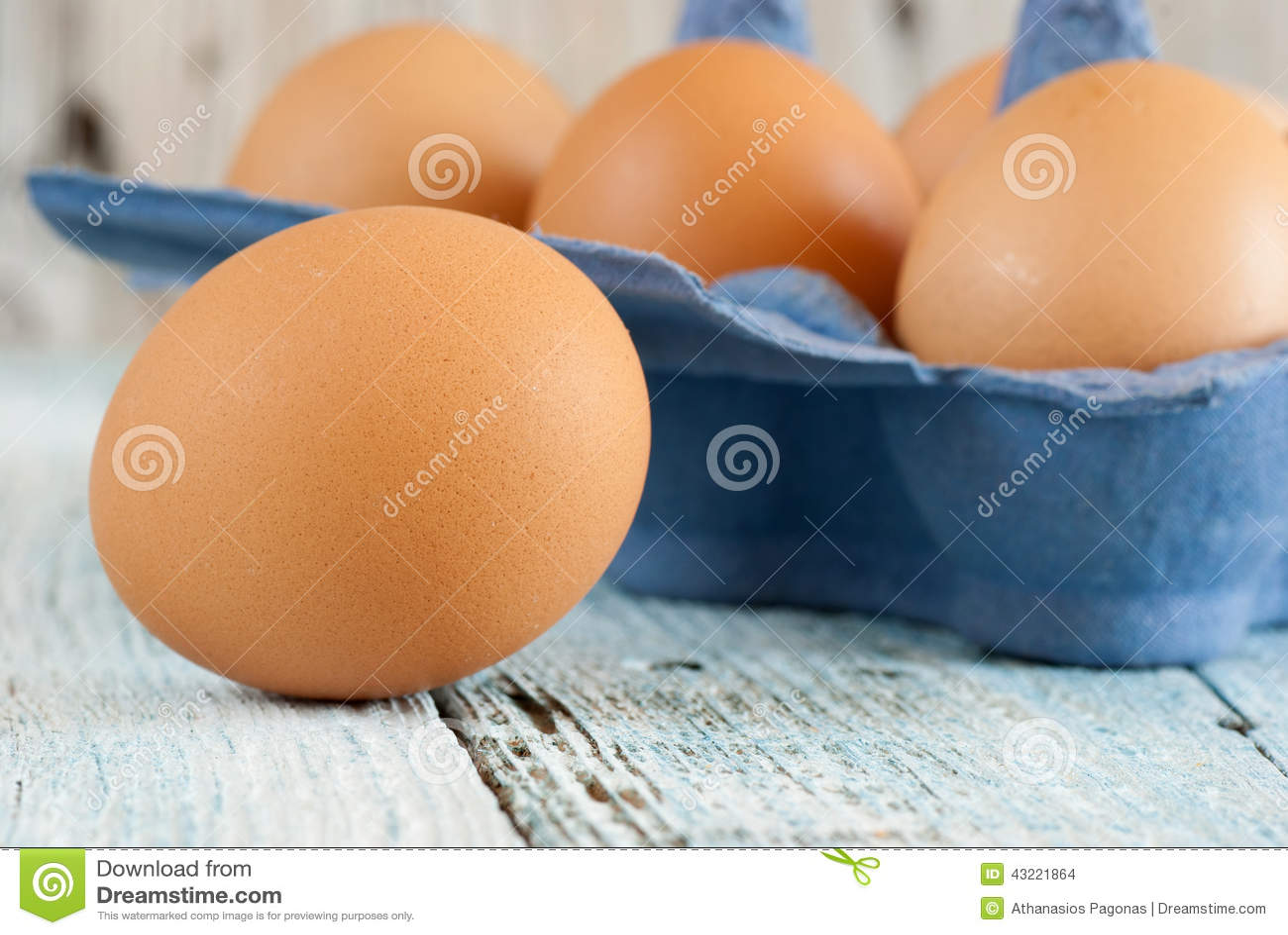 Download Eggs in box stock photo. Image of delicious, closeup - 43221864