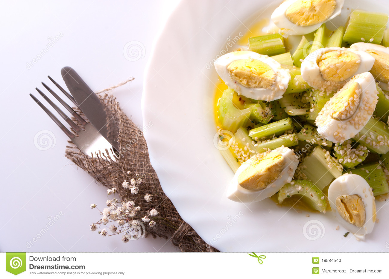 how to make egg and celery salad