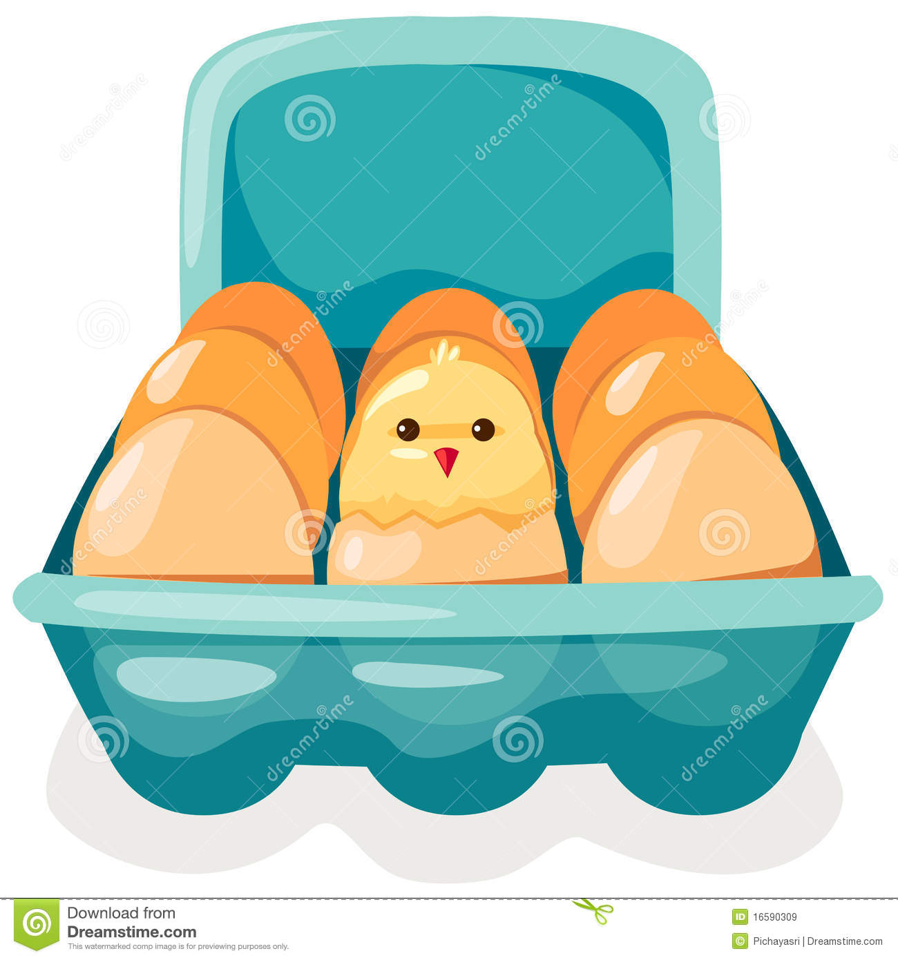 Eggs and chicken in carton stock vector. Illustration of nutritious -  16590309