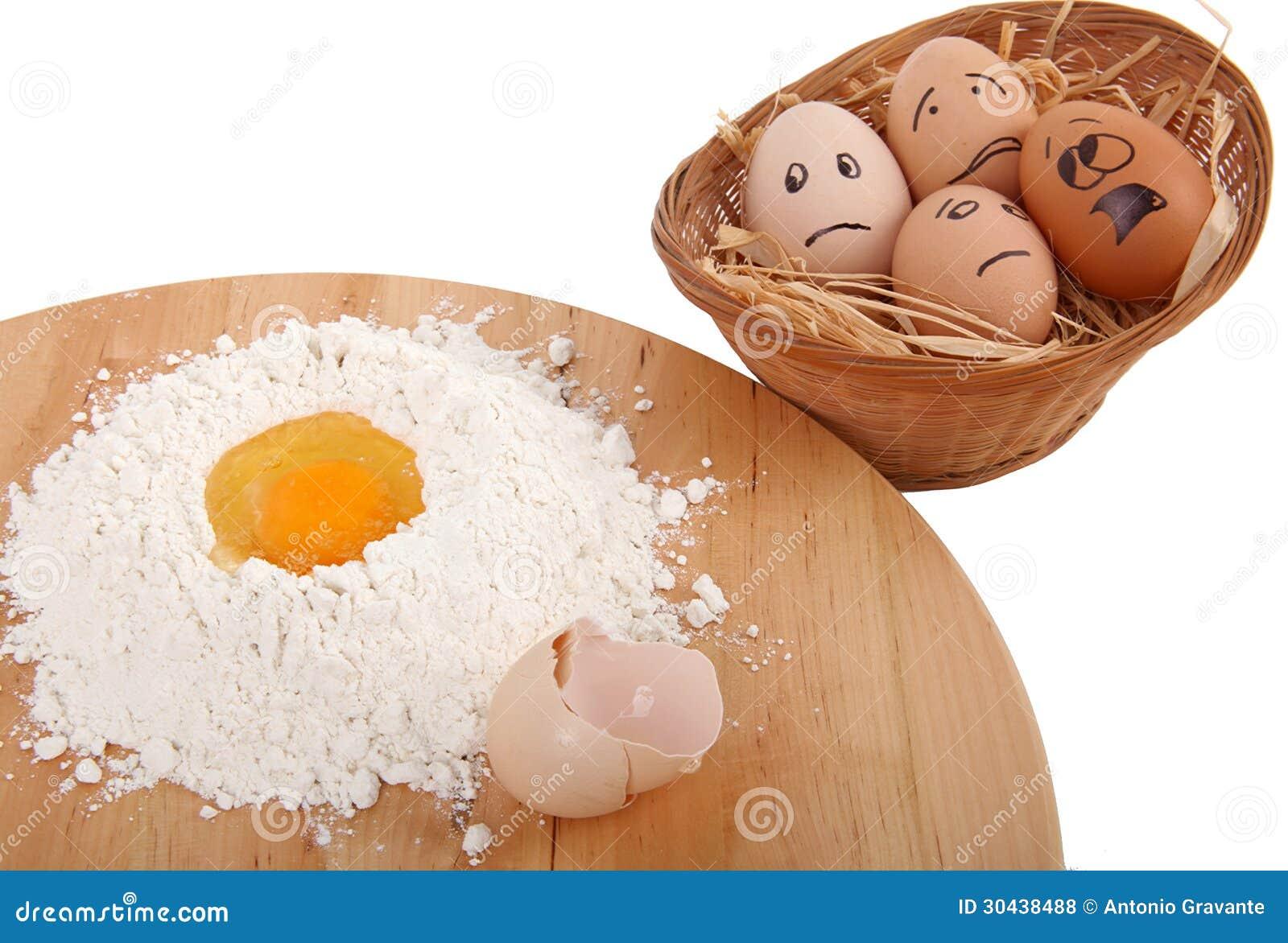 Eggs effrayé