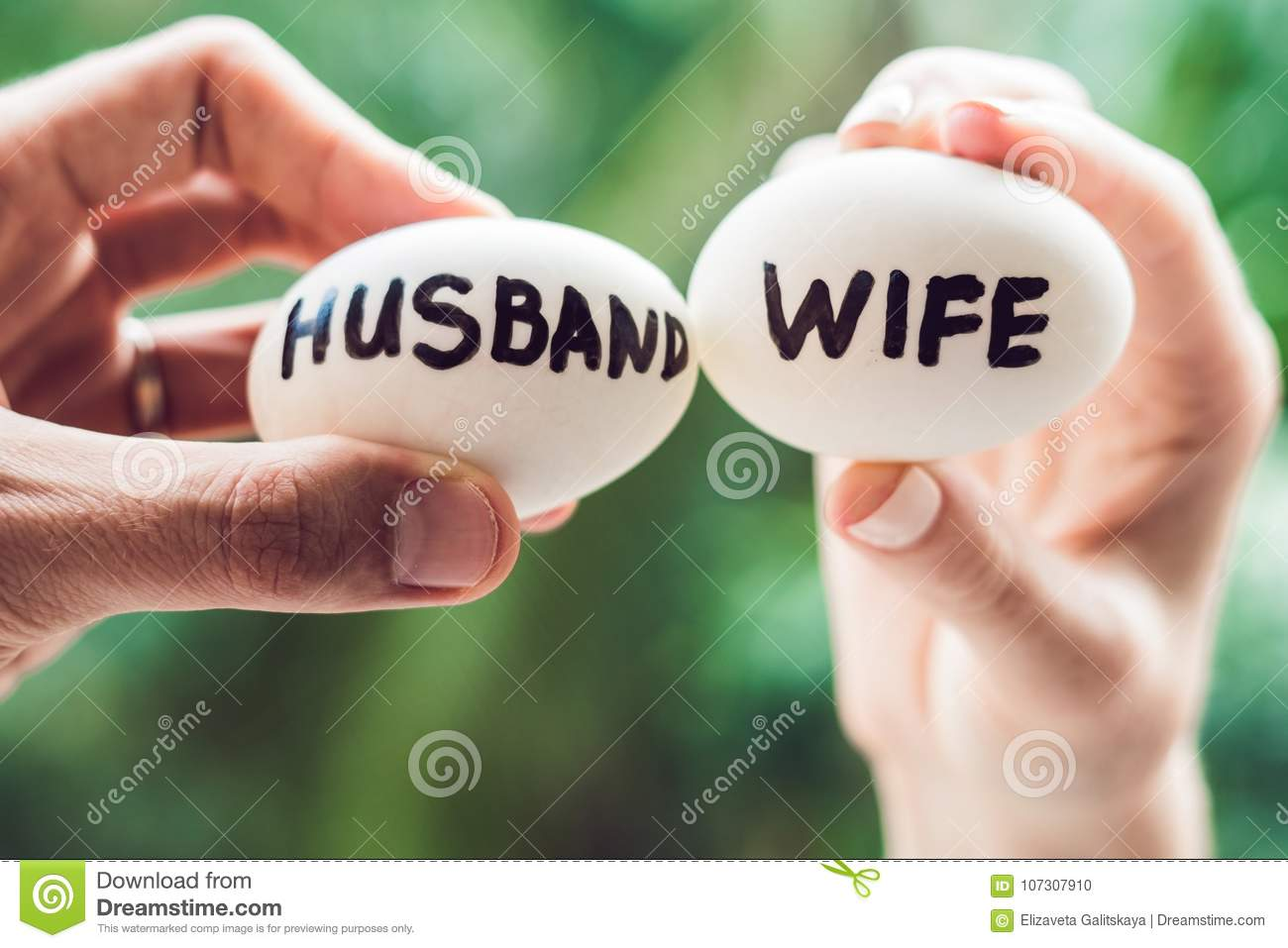 Eggs With Inscriptions Wife And Husband  The Conflict Between