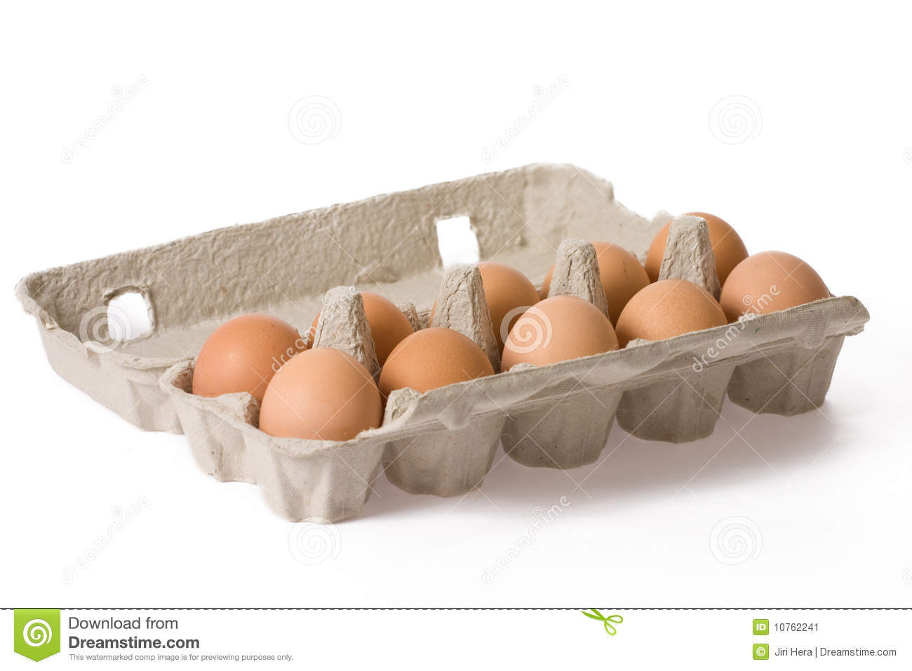 Eggs in paper egg carton
