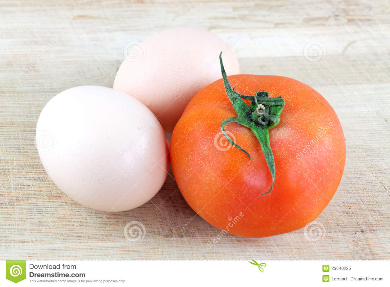 Eggs And Tomatoes Royalty Free Stock Photo - Image: 23040225