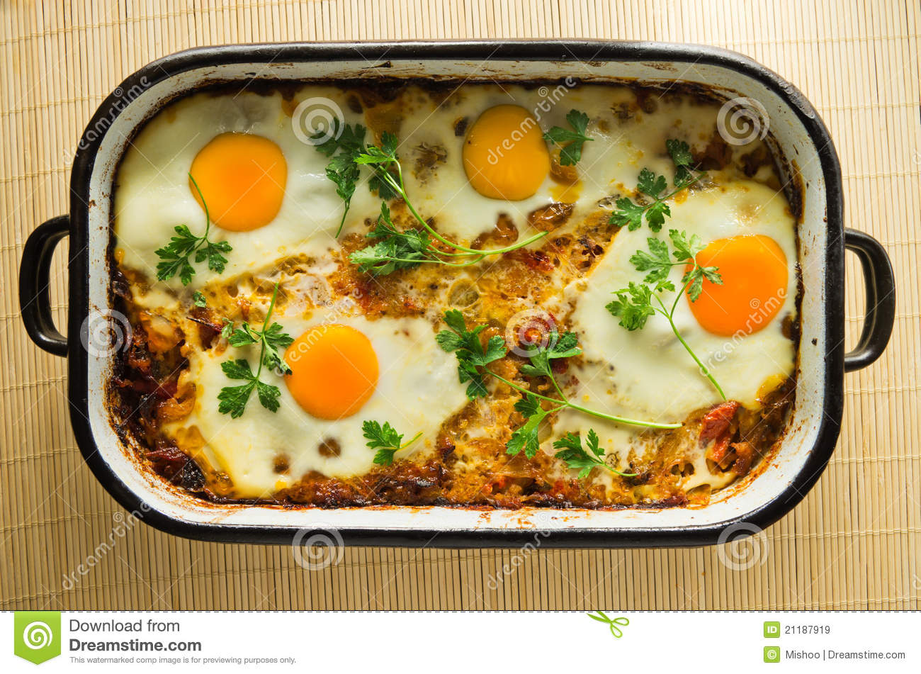 Eggs and vegetables cooked