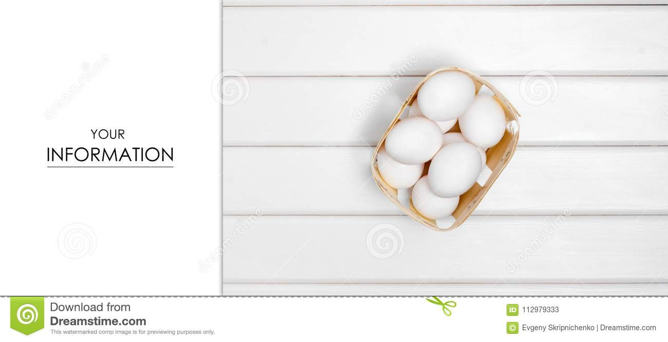 Eggs white in box pattern