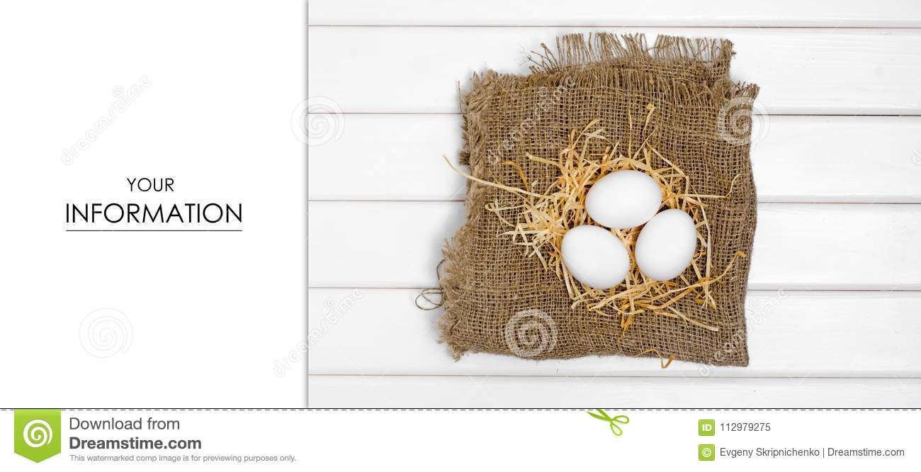 Eggs of white hay pattern