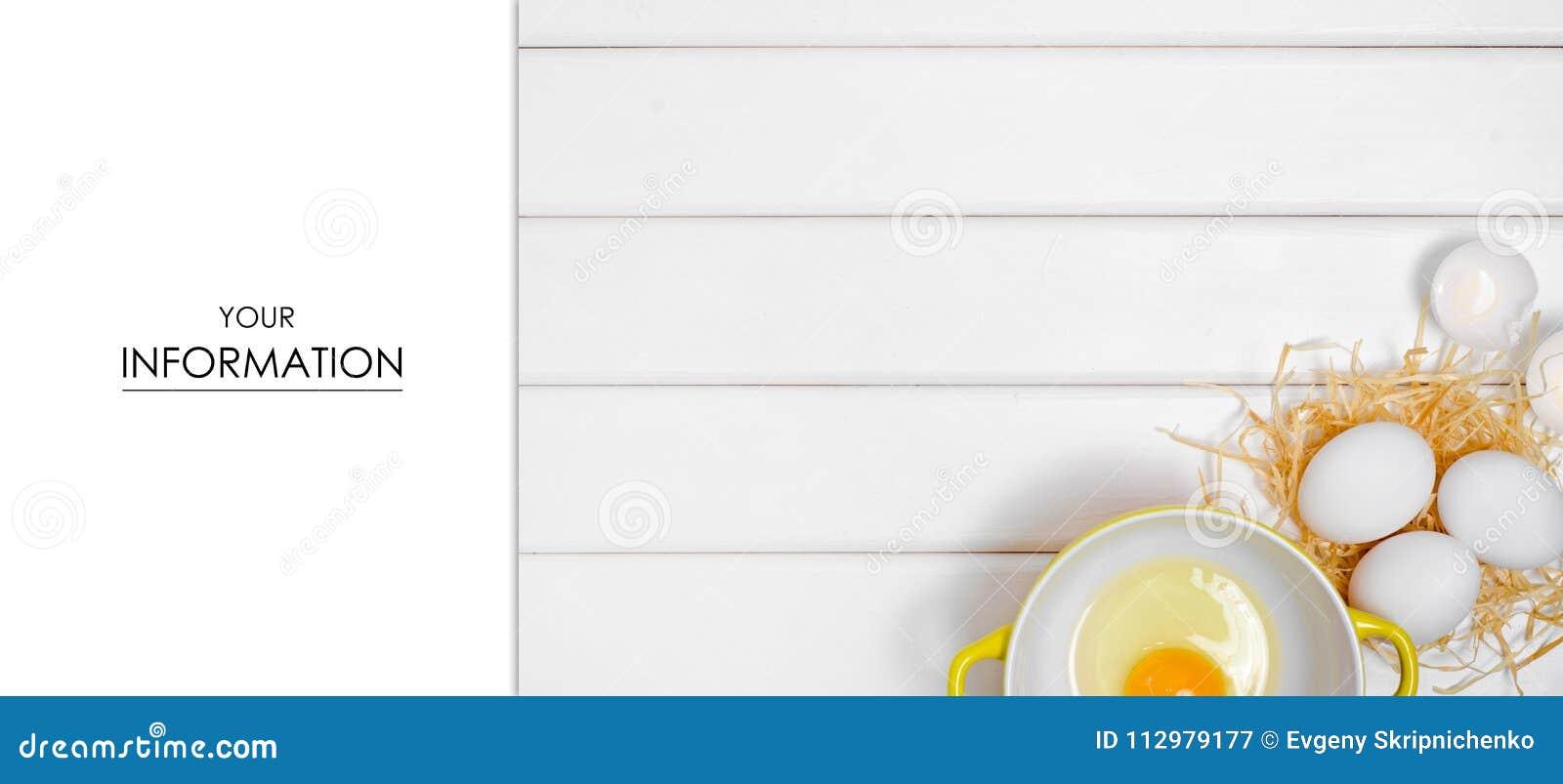 Eggs yolk in a plate pattern
