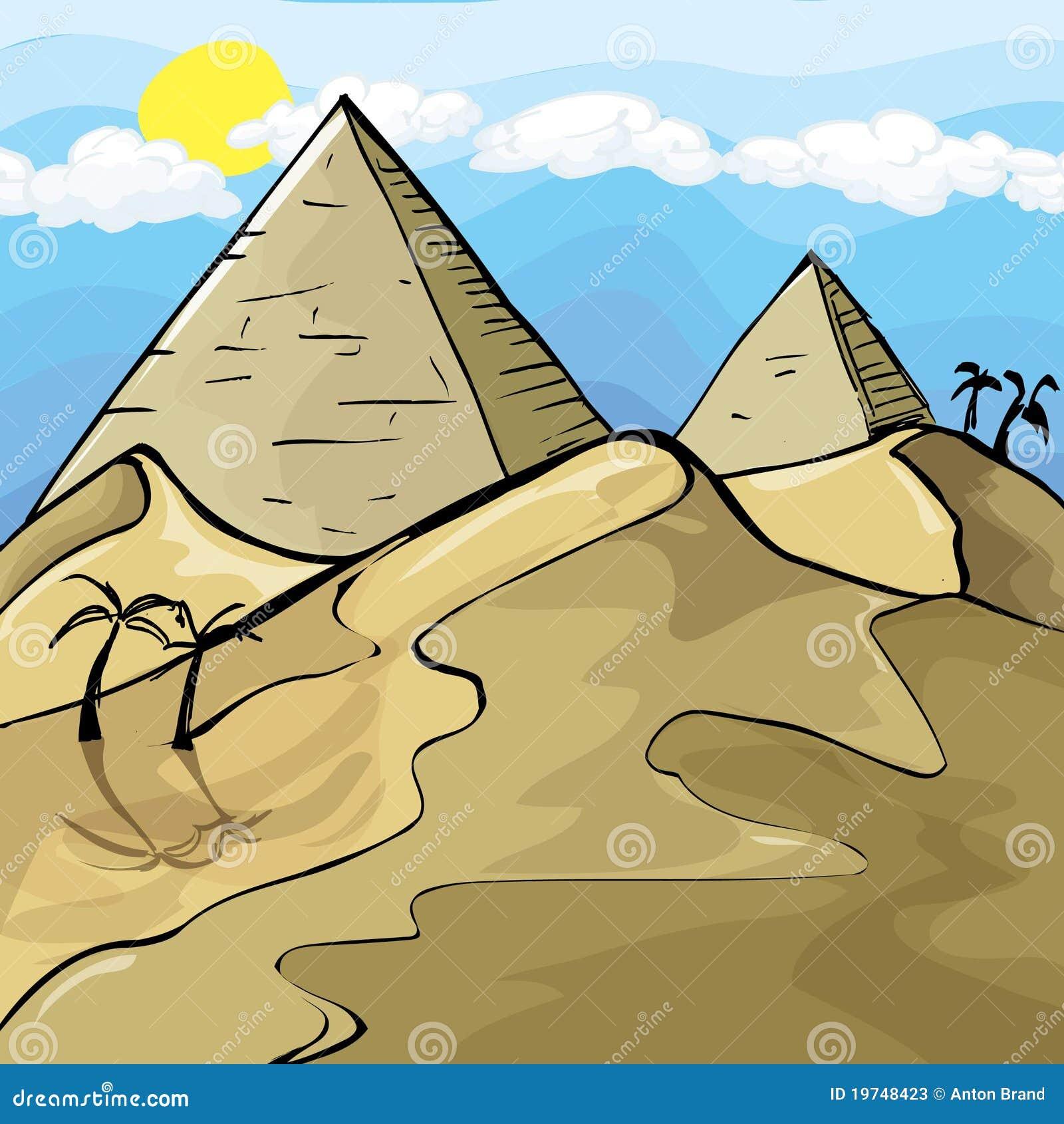 Egipscy ilustracyjni ostrosłupy