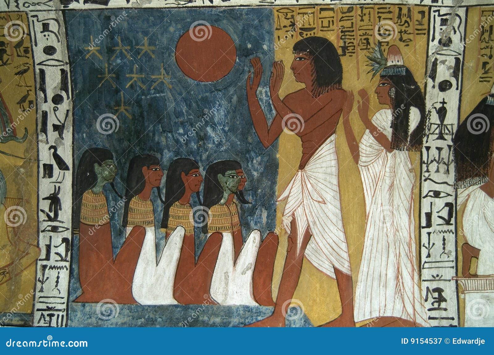 Egipski wallpainting