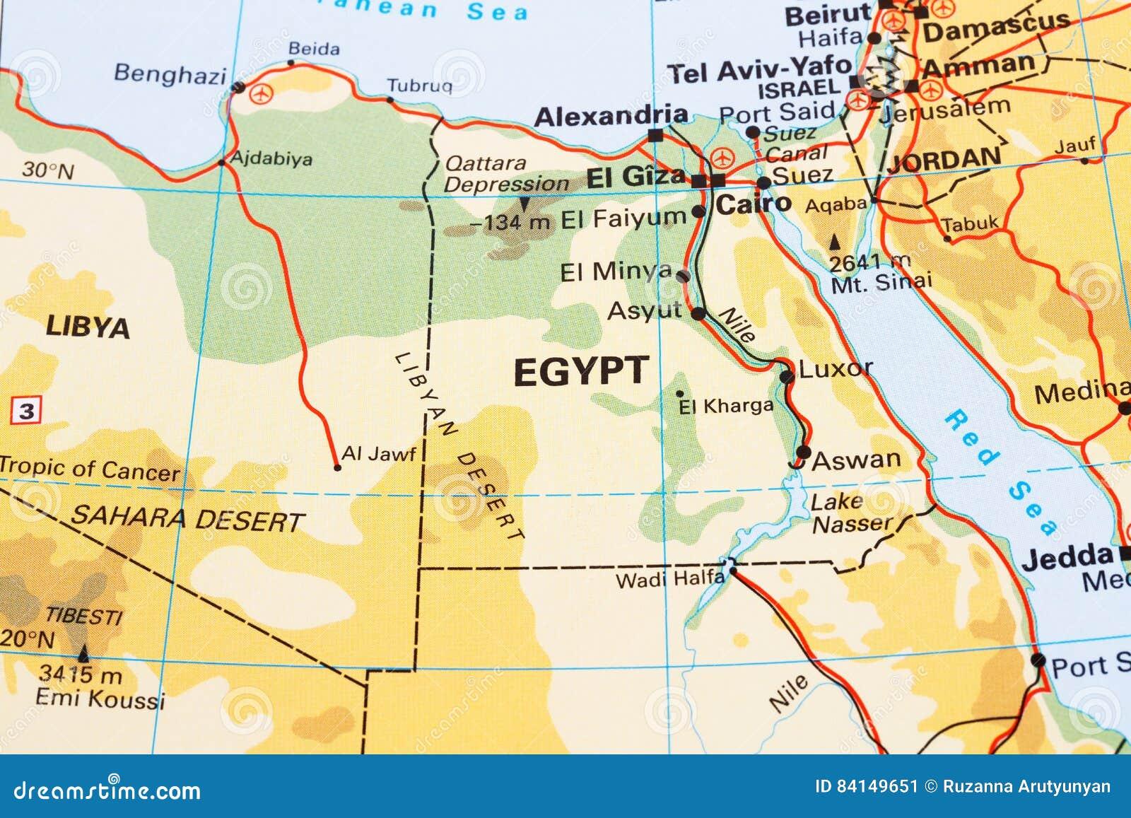 Egipt Mapa Obraz Stock Obraz Zlozonej Z Kanal Mowic 84149651
