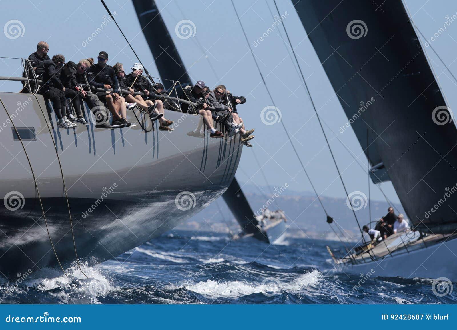 Żeglowania regatta wally klasa w Majorca