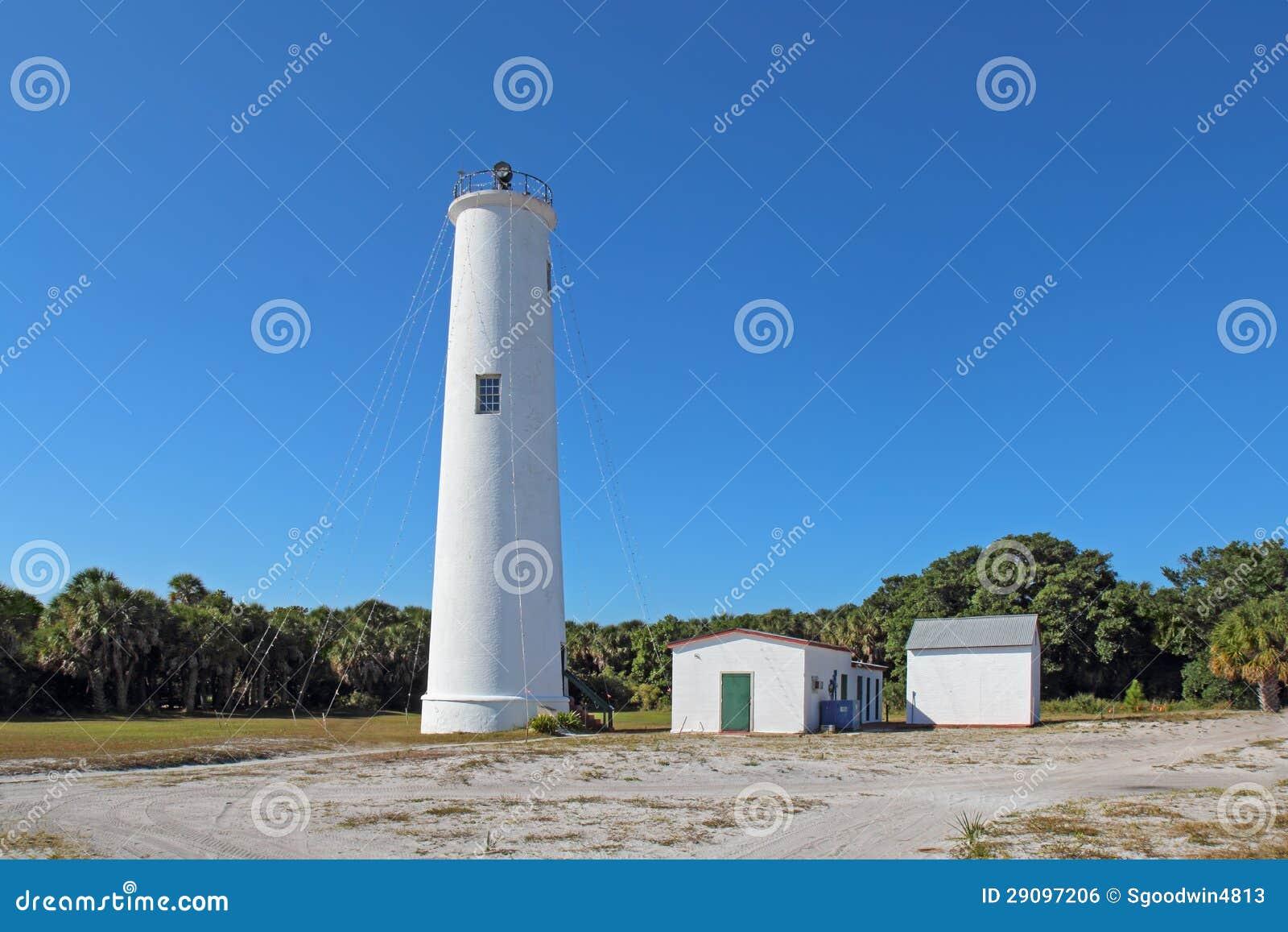 Egmont Kluczowa latarnia morska w Zatoka Tampa, Floryda