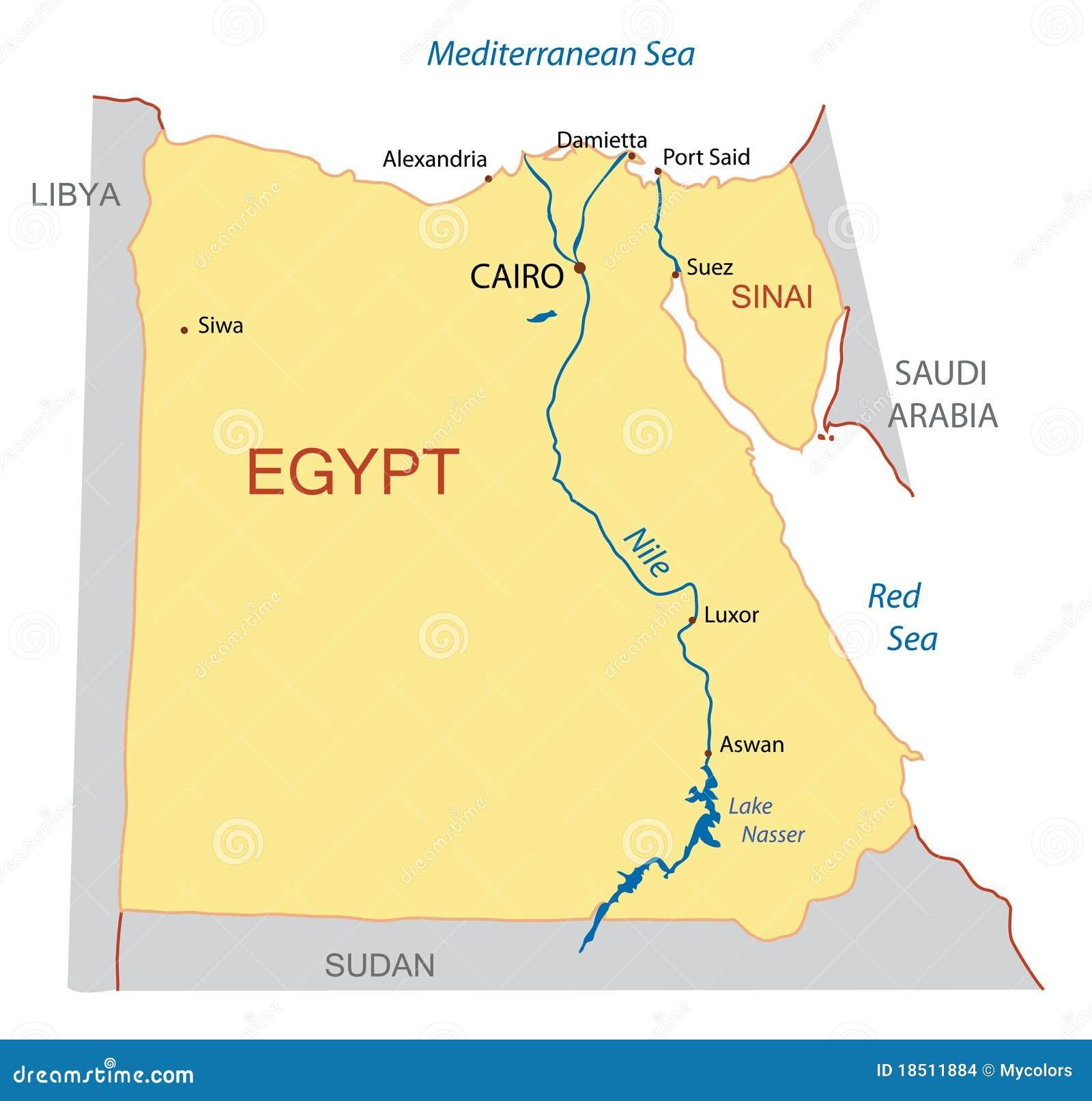 Egypt översiktsvektor