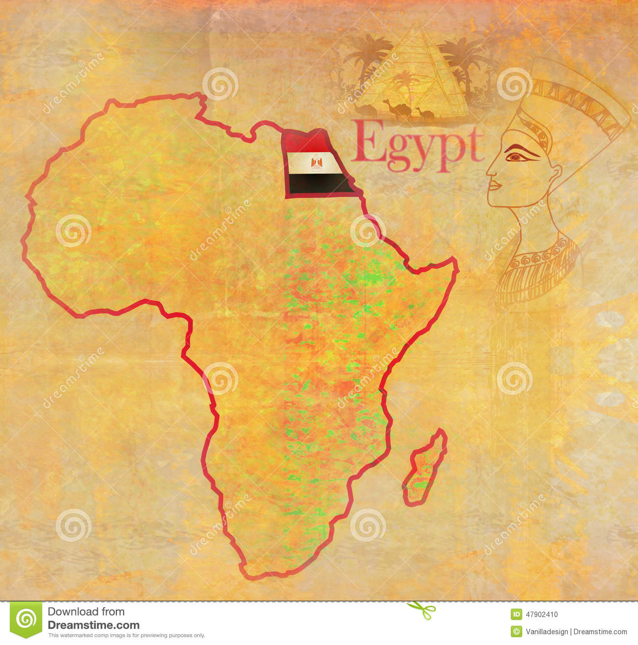 Egypt on actual vintage political map of africa stock illustration download egypt on actual vintage political map of africa stock illustration illustration of abstract ccuart Images