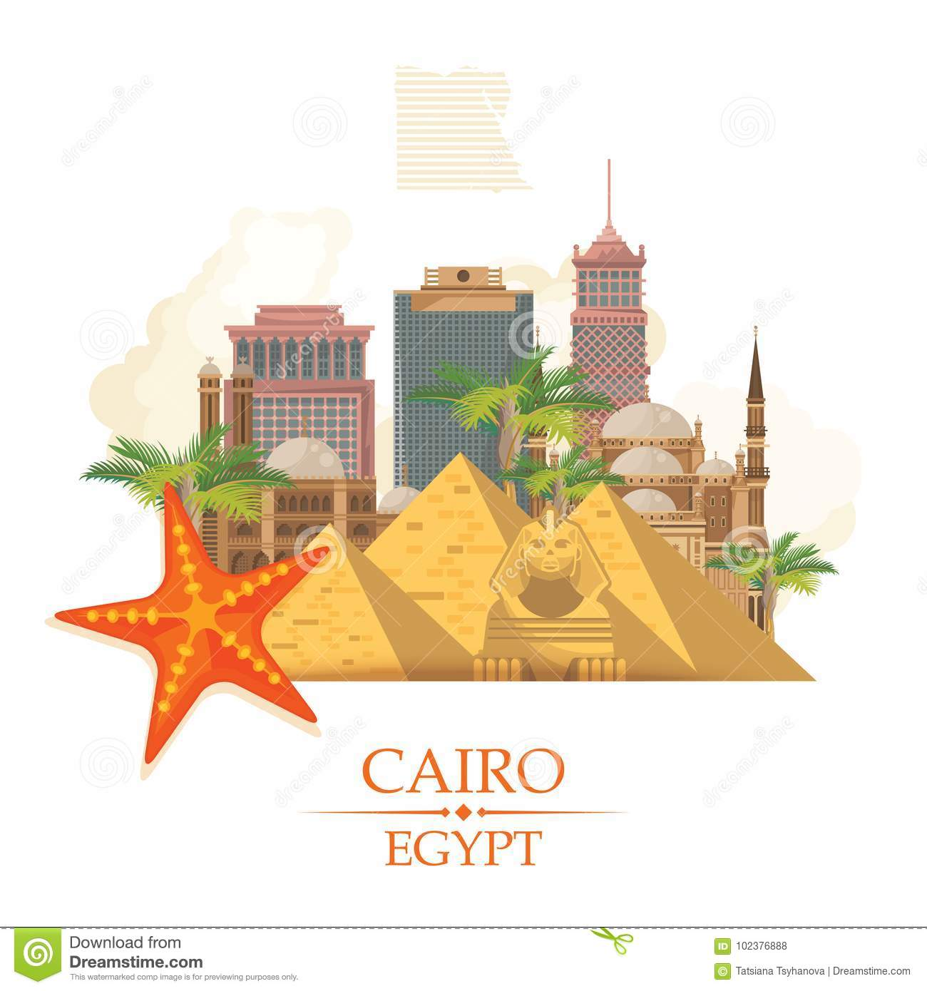 Egypt Advertising Vector Modern Style Welcome To Egypt