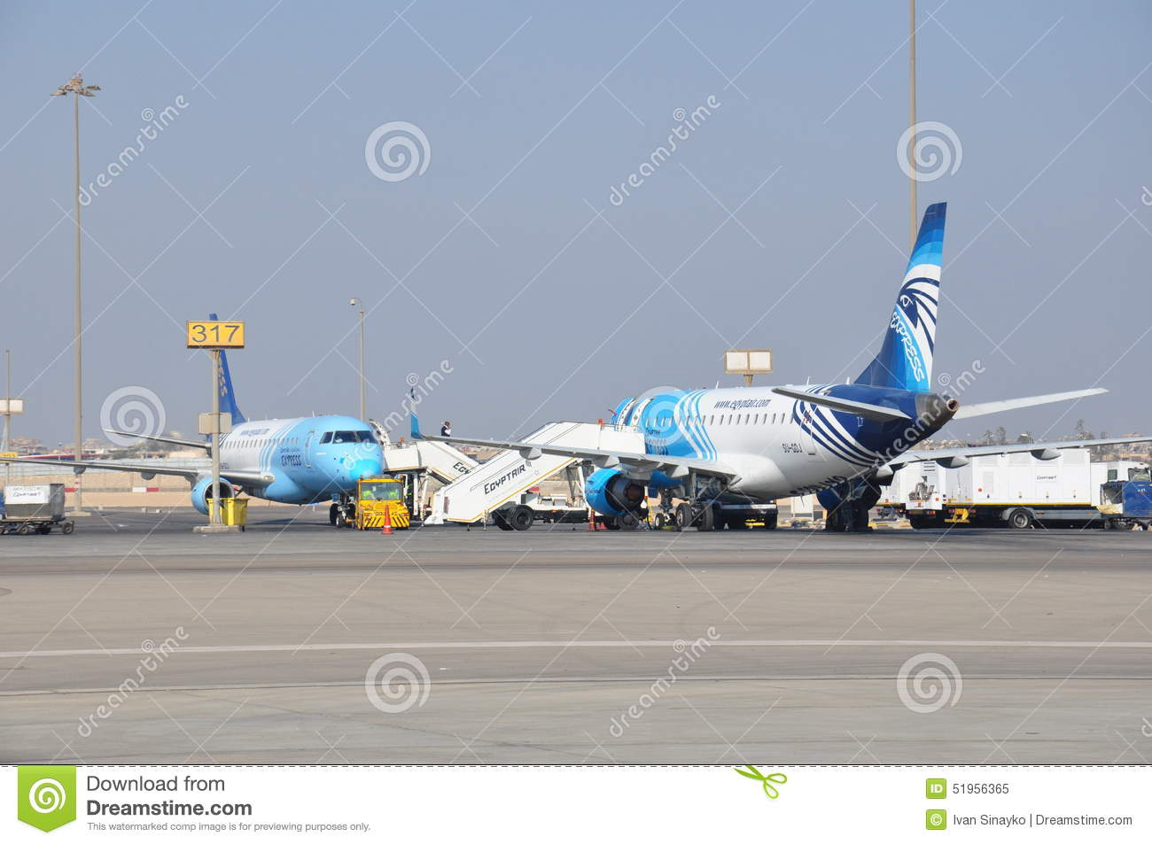 airplanes on busy airport panorama royalty free stock images