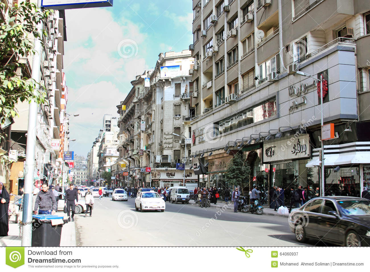 Egypt cairo street view editorial photography image of for Shopping in cairo