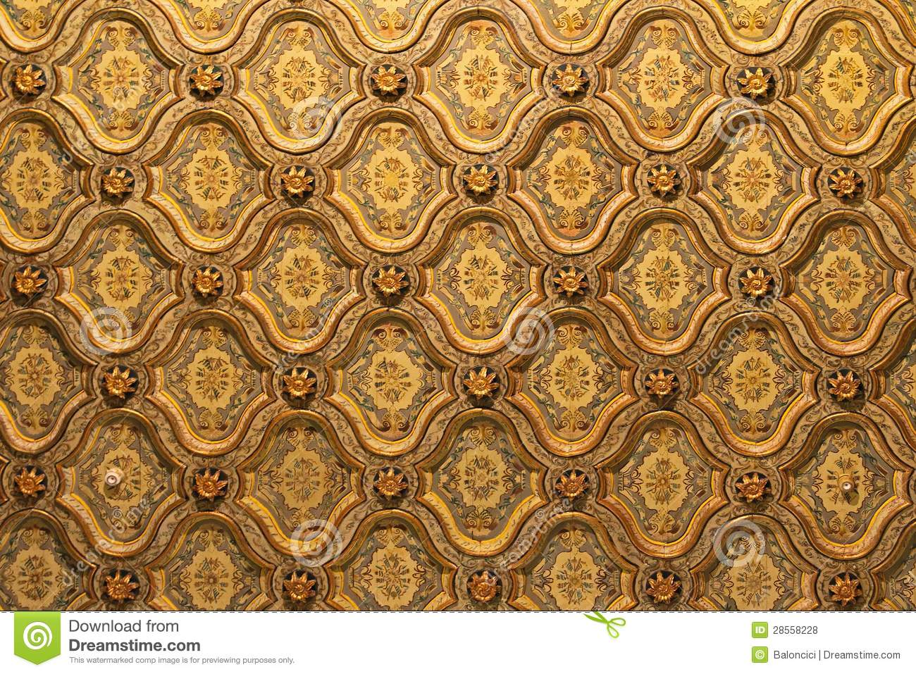 Egypt Ceiling Pattern Royalty Free Stock Photos - Image: 28558228