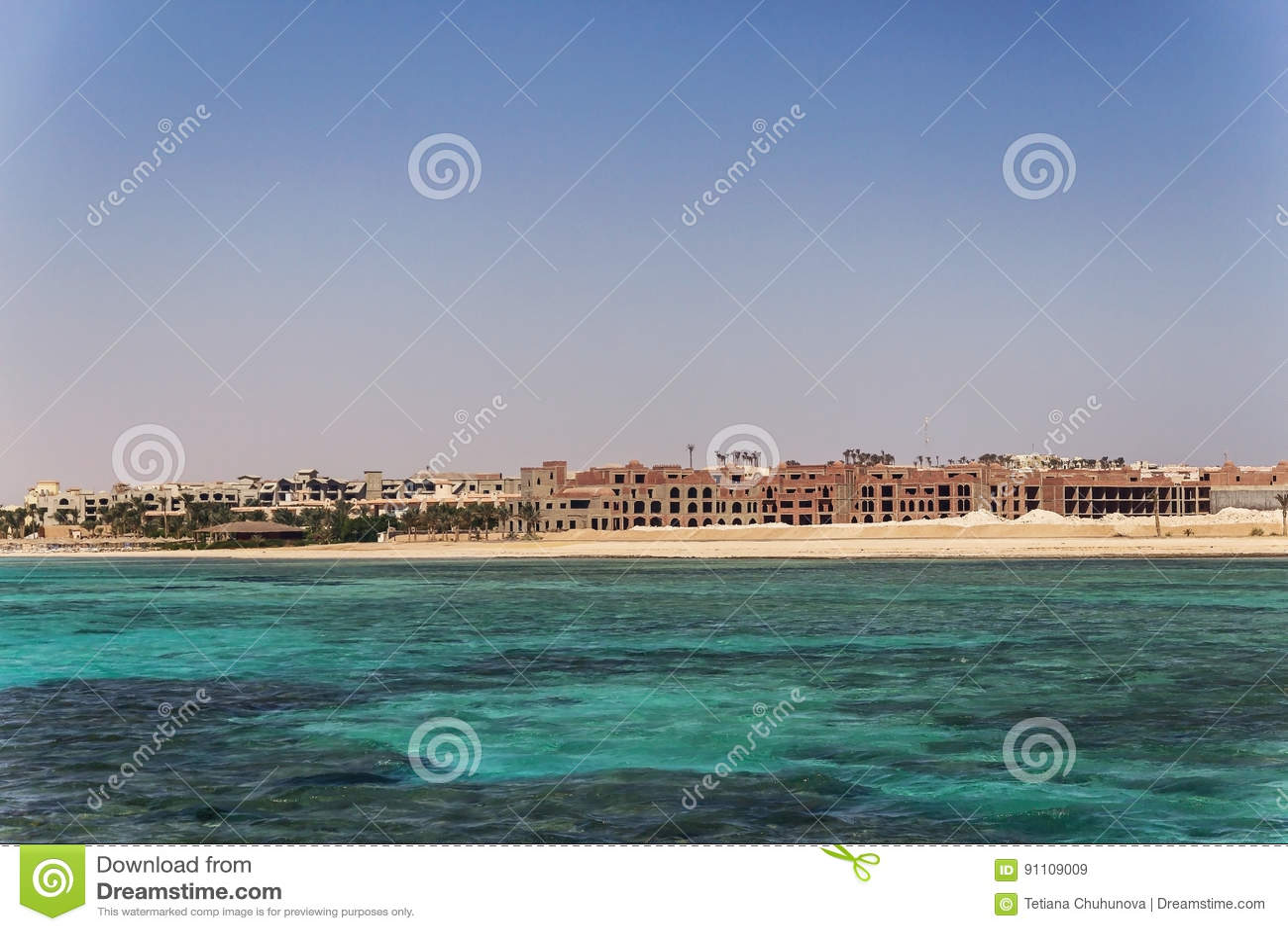 Egypt Hurghada Landschaft von der Meer-vidneetsya Horizontlinie