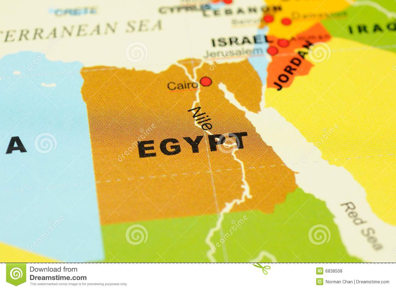 Egypt On Map Stock Photo Image Of Travel Closeup Cartography - Map of egypt free download