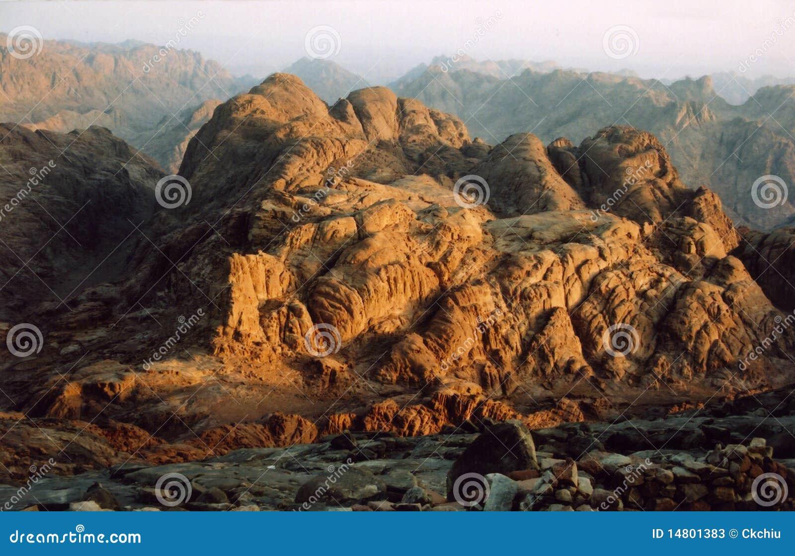 Egypt monteringssinai soluppgång