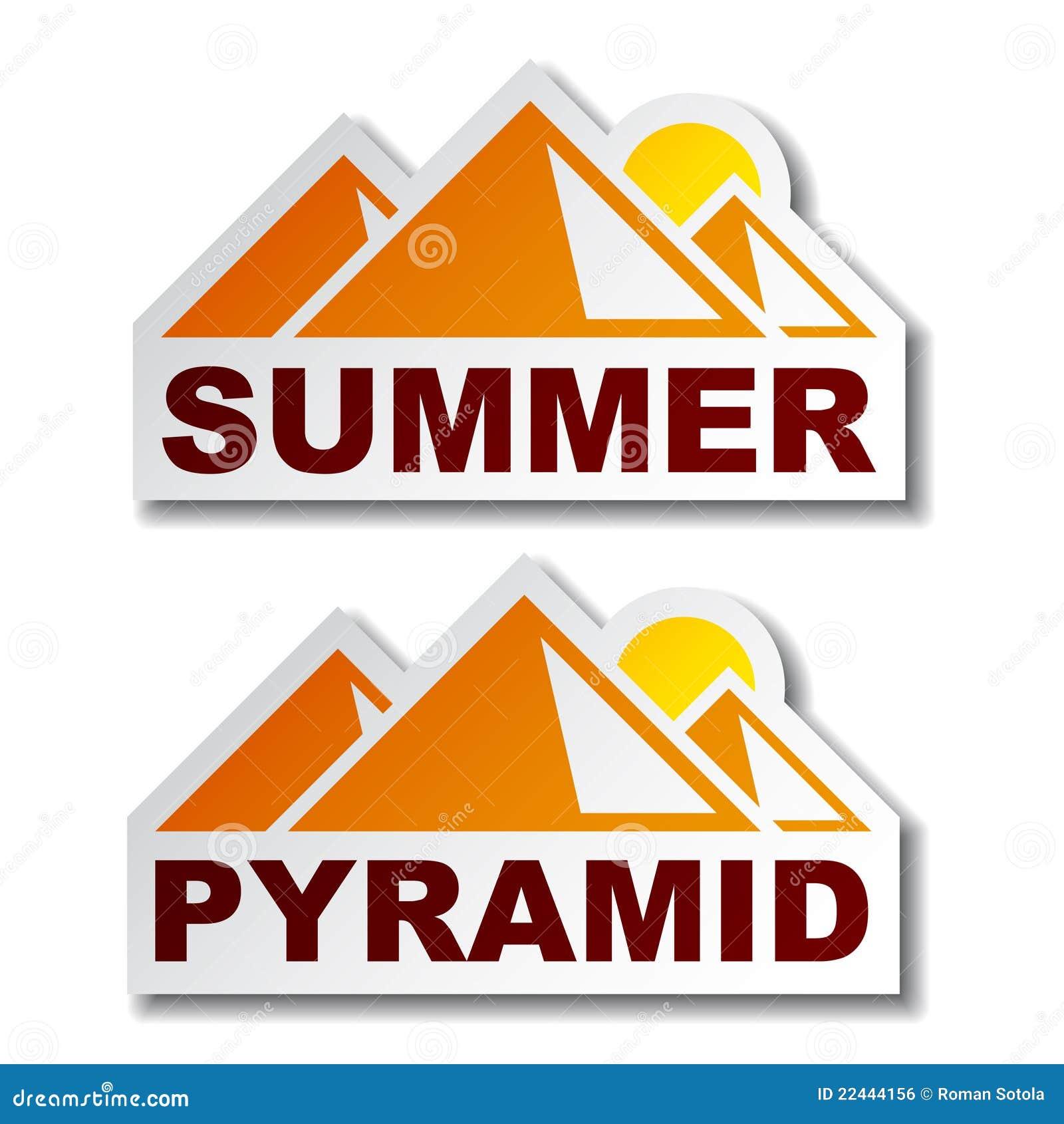 Egypt ostrosłupa majcherów lato