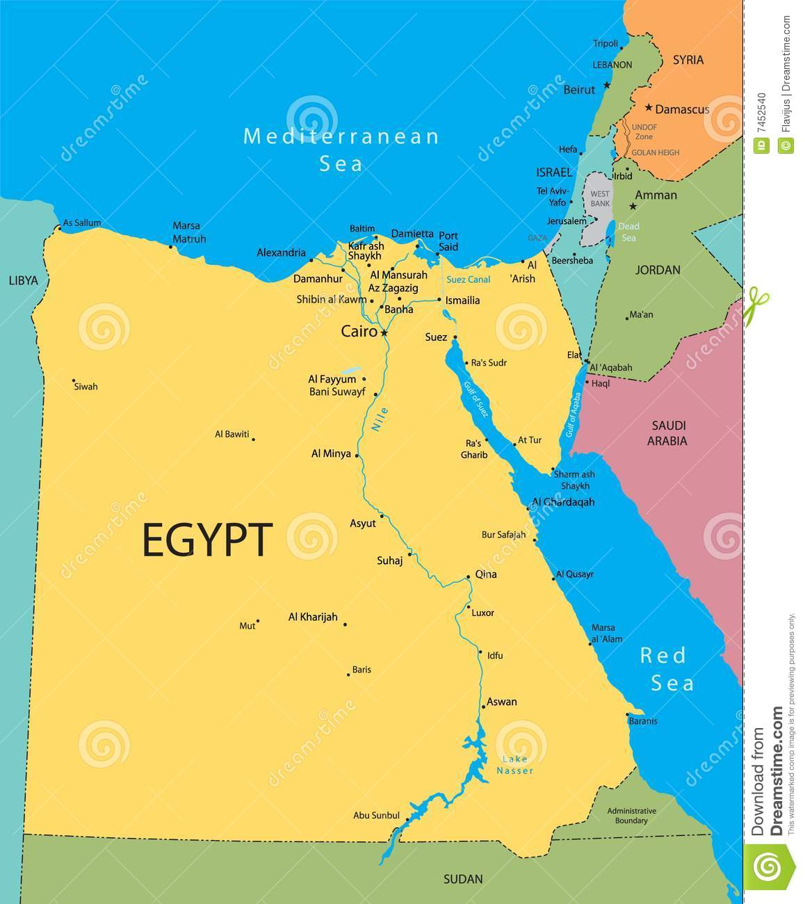 Map Of Egypt And Israel My Blog - Map of egypt israel jordan