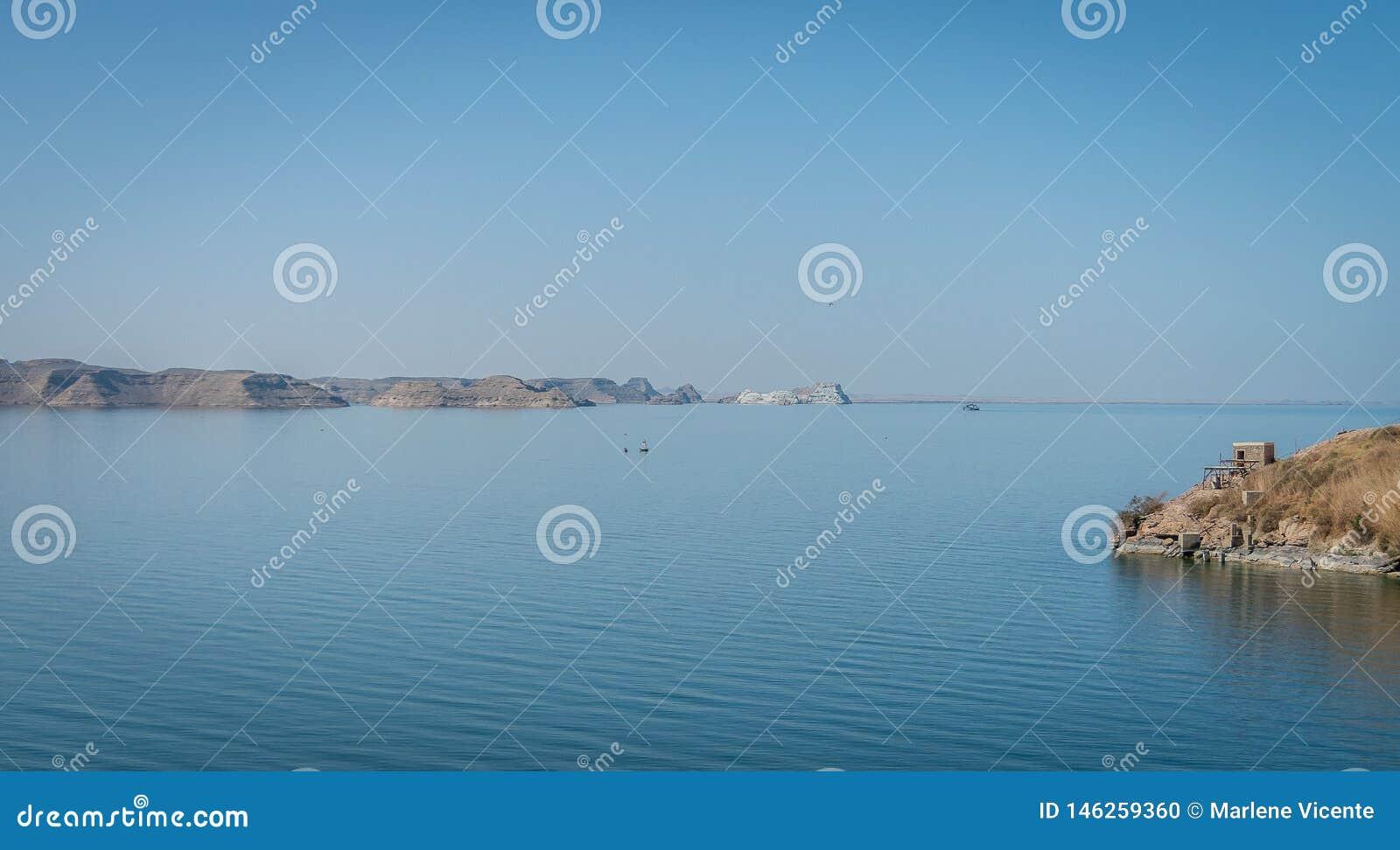 Egypte Landschap op Meer Nasser
