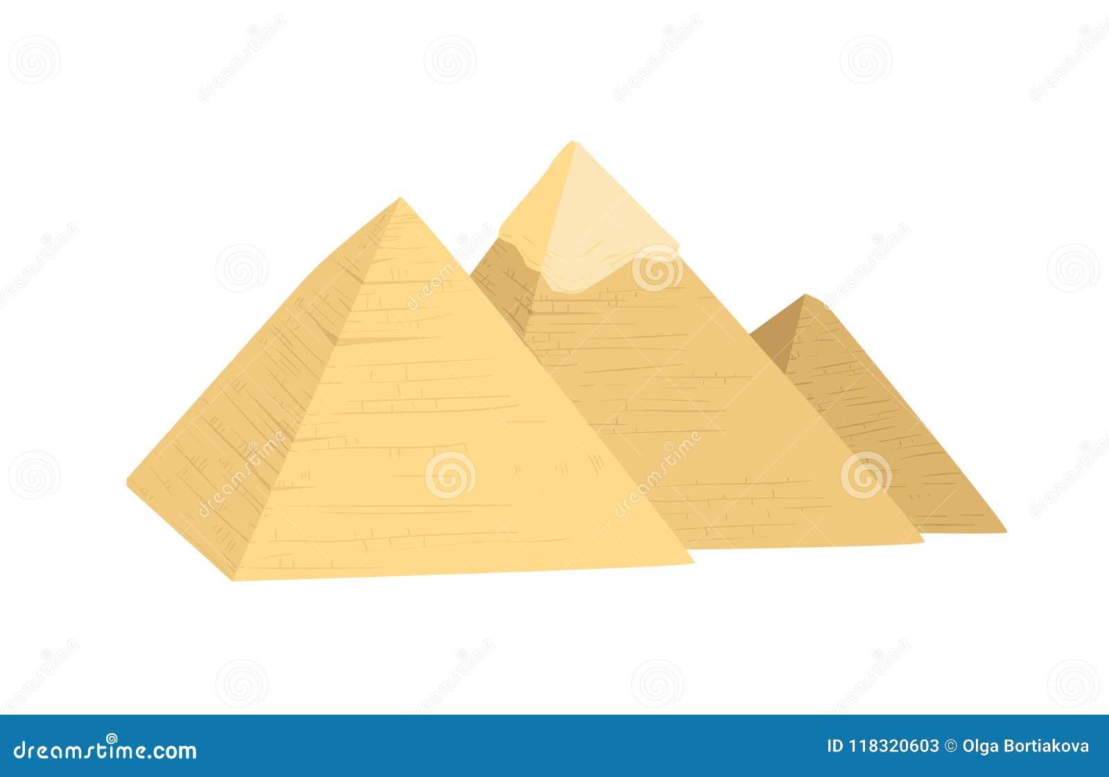 Egypten pyramidillustration