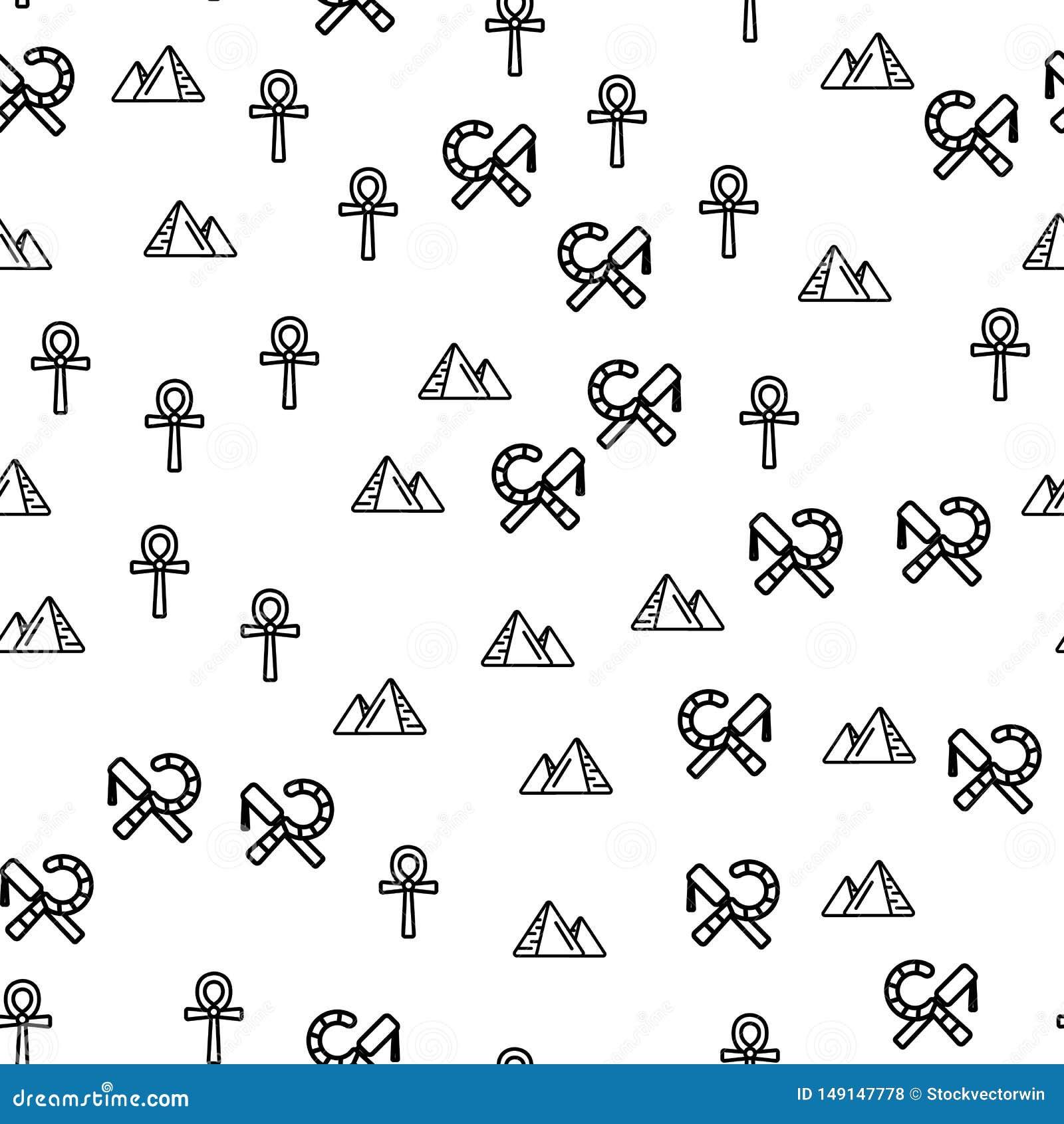 Egypten symboler och att sikta den s?ml?sa modellvektorn