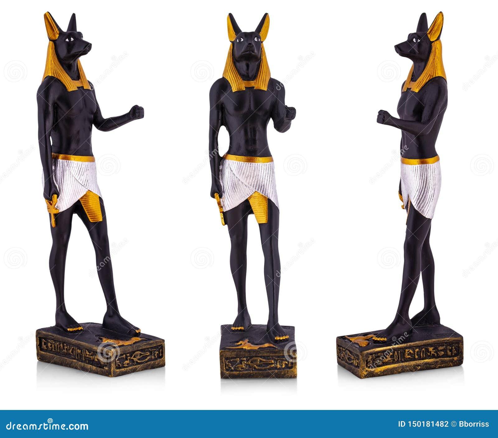 The Egyptian Ancient Art Anubis Sculpture Figurine Statue On