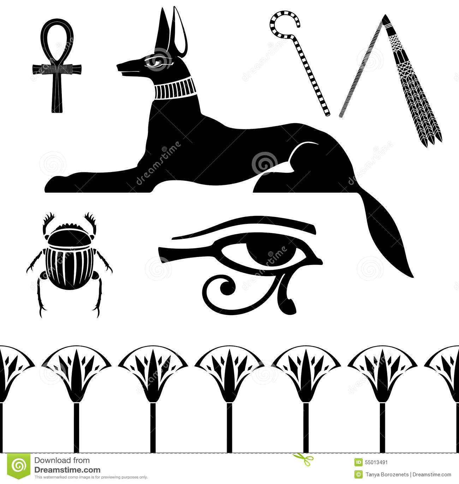 Egyptian Hawk Symbol Dinocrofo